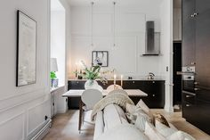 Style and elegance in a small apartment in Sweden {Cool Chic Style Fashion}