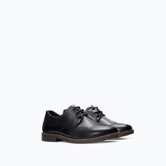 LEATHER BLUCHER from Zara Boys AW14