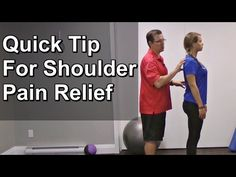 Quick Tip for Shoulder Pain Relief | Exercises For Injuries