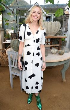 Fearne Cotton wearing a heart print tea dress and green metallic boots Fearne Cotton, Heart Dress, Online Fashion Stores, Cotton Style, Metallica, Girl Fashion, Dress Fashion, Fashion Ideas, Casual Dresses
