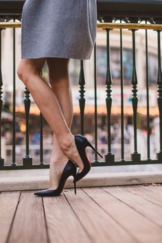 This pretty pair of Louboutin pumps is something every woman needs in her closet. They are striking and sexy.   Very striking, they knocked me to the floor where I belong.