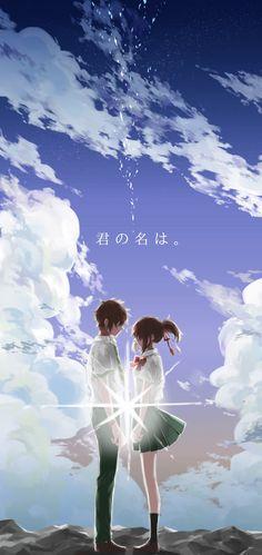 君の名は Kimi no na wa Manga Anime, Pelo Anime, Manga Art, Anime Art, Kimi No Na Wa, Watch Your Name, Ghibli, She And Her Cat, The Garden Of Words