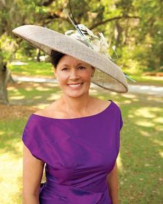 mother of the bride...love the hat and the purple of course!