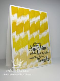 nice people STAMP!: Undefined - Hand Carved Ikat Stamp - Ombre Card - Stampin' Up! by Allison Okamitsu