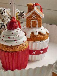 Muffins -Weihnachtsdeko