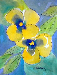 Yellow Pansies Water
