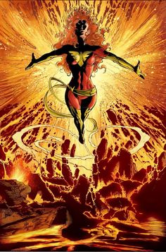 The Phoenix reborn - Dark Phoenix, Jean Grey - XMen Dark Phoenix, Phoenix Marvel, Jean Grey Phoenix, Phoenix Force, Comic Book Artists, Comic Book Characters, Marvel Characters, Comic Character, Comic Books Art
