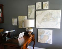 map covered canvas!!  @Matty Chuah redesign company