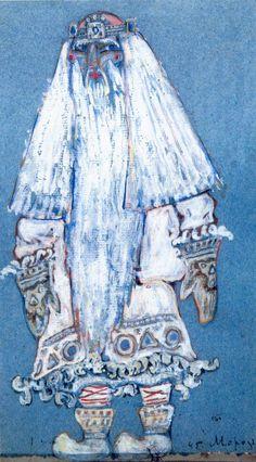 Father Frost by Nicholas Roerich Kandinsky, Nicholas Roerich, Ballet Russe, Christina Rossetti, Art Database, Art Graphique, Urban Art, Costume Design, Magick