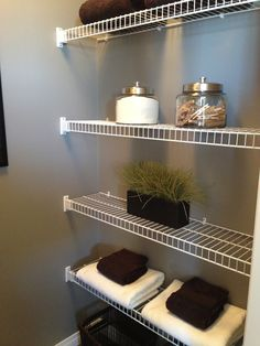 The perfect laundry organization space!