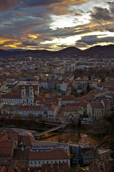 Sunset over Graz, Styria by Peter_St