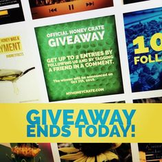 Hey we're selecting a winner this evening. You have until 6pm EST to follow and tag our giveaway post to enter for a 1-month subscription. Go to our page and look for the green giveaway post(from this photo). #giveaway #free #win #winner #endingsoon #honeycrate #honeycrategiveaway #beeinspired #rawhoney #honey #tag #follow