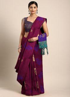 Sareetag Magenta  Designer Classic Party Wear Saree Bridal Sarees Online, Art Silk Sarees, Traditional Sarees, Party Wear Sarees, Work Casual, Indian Sarees, Designer Collection, Magenta, Sari