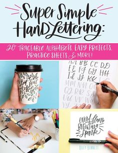 """Drawing beautiful letters by hand may seem intimidating, but it doesn't have to be! """"Kiley in Kentucky"""" hand lettering expert Kiley Bennett gets you started right away with 20 traceable alphabets. She guides you through five skill-building projects to let you practice drawing each upper and lower case letter. This interactive workbook also provides quality vellum tracing paper, along with four frameable pullout art prints and an inspirational art gallery. #lettering #ad #handlettering Hand Lettering Alphabet, Cool Lettering, Brush Lettering, Bullet Journal Ideas Templates, Bullet Journal Ideas Pages, Mary Kate Mcdevitt, Book Letters, Mehndi Designs For Hands, Mehandi Designs"""