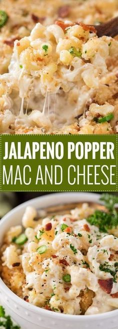 This Jalapeño Popper Mac and Cheese has all the amazing flavors of the wildly popular appetizer, made into an ultra creamy and comforting baked Mac and cheese dish! | #macandcheese #jalapenopopper