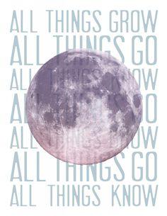 Moon poster featuring lyrics from Sufjan Stevens