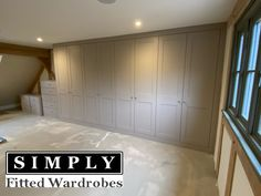 Have you seen these stunning shaker fitted wardrobes by Simply Fitted Wardrobes
