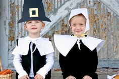 Pilgrim Costumes - these would be great for the Thanksgiving feast