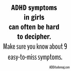 ADHD symptoms in girls can often be hard to decipher.