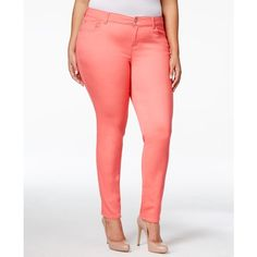 Celebrity Pink Petite Plus Size Skinny Jeans ($17) ❤ liked on Polyvore featuring jeans, calypso coral, skinny jeans, petite jeans, plus size jeans, skinny fit jeans and petite white skinny jeans