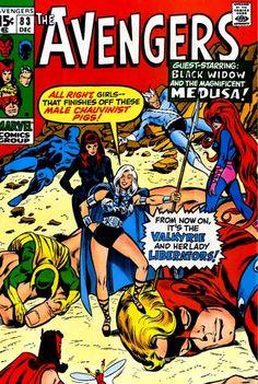 1966: Los Vengadores VS. El feminismo radical. #Comics