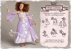 What little one wouldn't want to design their own princess outfit?  Big fan of Chasing Fireflies for costumes anyway, but this is pretty awesome.