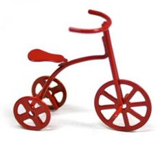 Miniature Red Metal Old Fashioned Tricycle  3.39