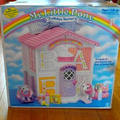 Vintage My Little Pony Lullaby Nursery and by CrazyCatLibrarian, $95.00