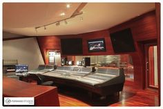 Control room at Forward Studios in Rome with a stunning Genelec 1036A monitoring system.