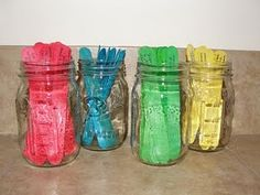 Activity Jars: alternative to bored jar. Great for weekend ideas!! I might wait until age 2+ though. You rock Heather.