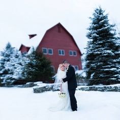 A snowy wedding day made for some gorgeous photos.  Thanks to the bride and groom for braving the cold weather!
