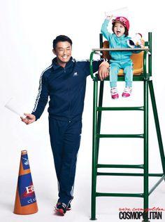 Choo Sung Hoon and Sarang for Cosmopolitan February 2014