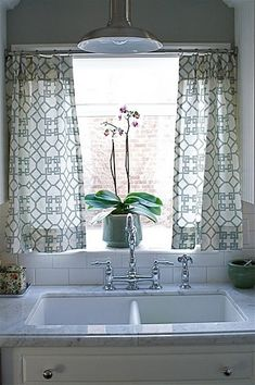 Kitchen curtains?  or a valance?