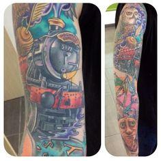 @jailiddle #tattoo #tattoos #tattooartist #tattooshop #thehubbcollective #thc #colortattoo #colourtattoo #blackandgreytattoo #bgtattoo #art #artist #tattooinspiration #picoftheday #tattoooftheday  #tattoolove #tdumagazine #tattooart #tattooistartmagazine #tattoosnob #inked_fx #inkfreakz #tattoo_of_instagram #ink #inked #tattooedpeople #newcastle #harrypotter #harrypottertattoo #harrypottersleeve
