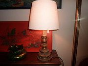 Art Nouveau Giltwood Table Lamp. Giltwood. Italian. Good condition. circa 1910