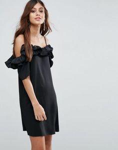 ASOS Ruffle Cold Shoulder Cami Dress