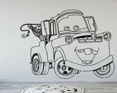 Tom Mater, Cars, Disney, Wall Decal, Wall Art, Wall Stickers, Kids Room Decor, Cute, Stickers, Vinyl Decal, Gift, Sticker Pack