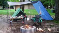 RV Camping Tool Ideas 119 (RV Camping Tool Ideas design ideas and photos Camping Tools, Camping Life, Tent Camping, Campsite, Camping Hacks, Camping Ideas, Truck Camper, Small Rv Campers, Materiel Camping
