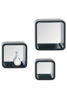 Metallic Decor: Designer Home Accents  Teka Mirrored Wall Cubes - Set Of 3  $90.00  $192.00  53% off