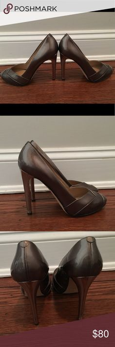 Giuseppe Zanotti pumps. Worn once. Giuseppe Zanotti Pumps. Worn once. Pewter. Size 7.5 but run small...More like a size 7. No scuffs or marks. Giuseppe Zanotti Shoes Heels