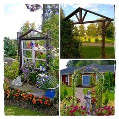 Elämää maalaismaisemissa: Katse kohti puutarhaa