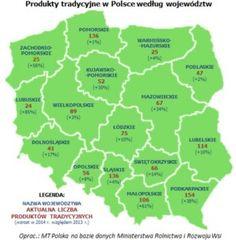 Lista produktów tradycyjnych w Polsce liczy już ponad 1200 wyrobów, co oznacza wzrost o ponad 17% w porównaniu z rokiem 2013. Najwięcej tego typu artykułów jest w województwie podkarpackim – 154. Kolejne miejsca w stawce zajmują pomorskie i śląskie (po 136) oraz lubelskie i małopolskie (odpowiednio 114 i 106 wyrobów). Na listę wpisywane są produkty stanowiące element dziedzictwa kulturowego regionu, które wytwarzane są tradycyjnymi metodami wykorzystywanymi co najmniej od 25 lat.