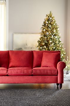 Our Amalfi sofa has rolled arms and a classic Lawson silhouette that adds style to any living room. All it needs is you and yours gathered on it. Havertys