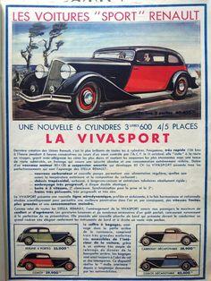 Renault sport cars vintage advertising, French magazine poster, https://www.etsy.com/listing/231712351/renault-sport-cars-vintage-advertising?ref=shop_home_active_9&utm_content=buffer6caef&utm_medium=social&utm_source=pinterest.com&utm_campaign=buffer #Etsymntt #a4team