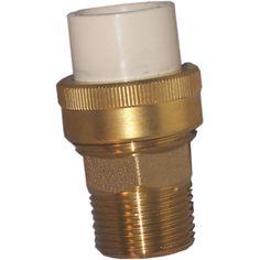 "Genova Products 53376Z 3/4"" Low Lead Cpvc Slip x 3/4"" Brass MIP Transition Union"