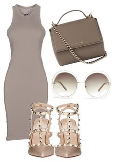 """""""Untitled #73"""" by laurenmq ❤ liked on Polyvore featuring DRKSHDW, Valentino, Chloé, Givenchy, Heels and sunglasses"""