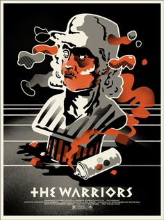 """MP1006. """"The Warriors"""" Alternative Movie Poster by We Buy Your Kids Designers (Walter Hill 1979) / #Movieposter"""