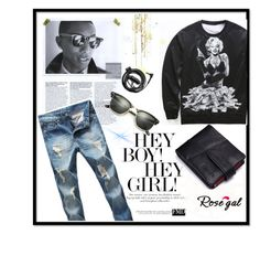 """""""Man""""s fashion #38"""" by jaca-dramalija ❤ liked on Polyvore featuring Ray-Ban, Forever 21, men's fashion, menswear, shop and rosegal"""