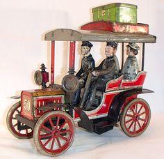 1900's CARETTE Tonneau German TIN WINDUP TOY Clockwork No. 50 Limousine Germany