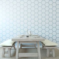 HONEYCOMB WALL STENCIL DESIGN    Stencil design is: 15 x 23.5    This design comes with a separate individual stencil to make it easier to fill in